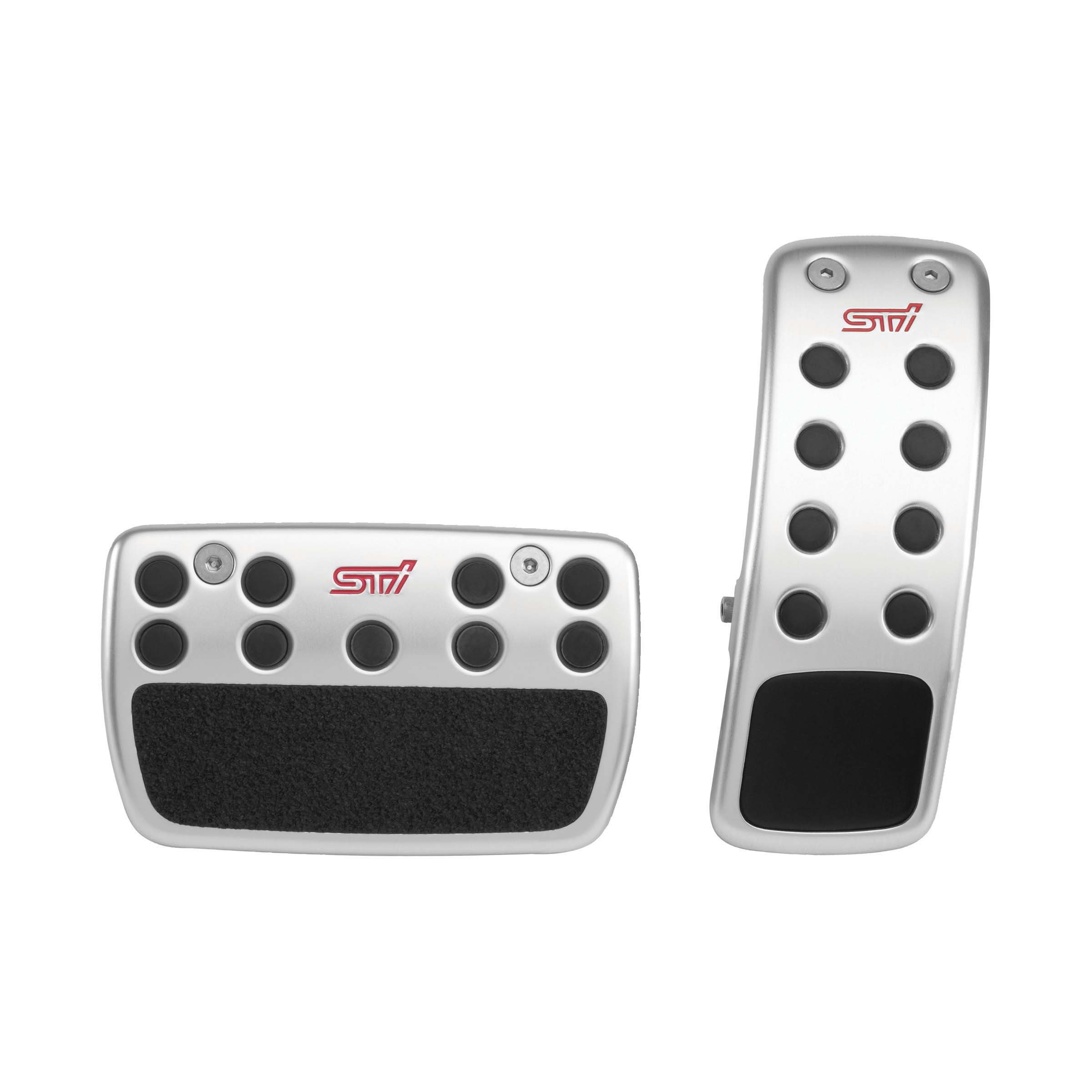 2014 Subaru Forester Metal Pedal Pad Set STI AT. New design aluminum pedal covers with non slip ...